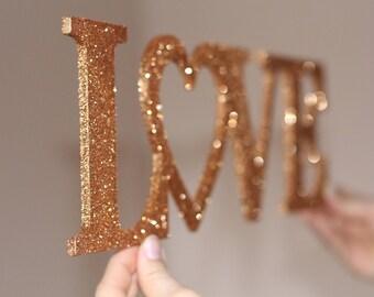 Wedding Sign-Wooden Words-Wooden Words Love-Gold Wedding Sign