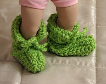 Crochet baby bootie Cuffed baby booties Baby ankle booties Heirloom booties Baby footwear 6-9 months Baby gift from grandmother