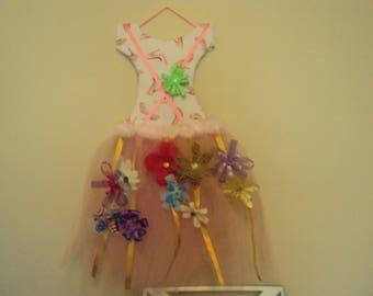 001 Pink Tutu Hair Bow Holder