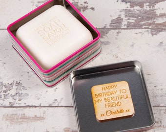 Luxurious Floral Secret Message Personalised Soap