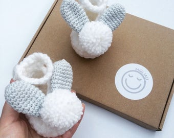 Baby easter gifts etsy crochet baby shoes easter baby gift new baby gift newborn baby shoes negle Gallery