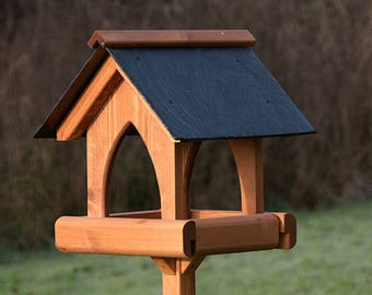 Gothic Slate Roof Bird Table
