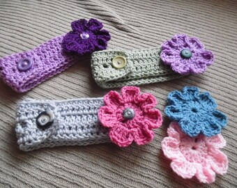 Headband with 2 Interchangeable Flowers