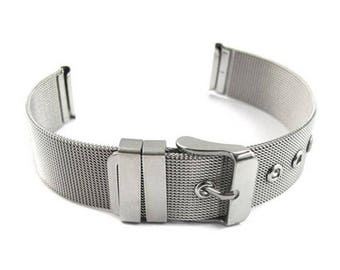 STAINLESS STEEL Shark Milanese Mesh Buckle 18 20 22MM Watch Strap Band UK Seller