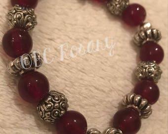 Red Faith Stretch Bracelet