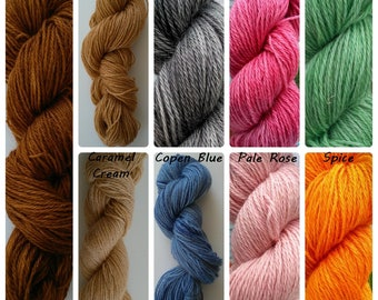 Mohair DK weight yarn , Mohair-Wool-Nylon blend (60/20/20), 181 m/100 g (198 yd/3.7 oz), hand dyed skeins, semi-solid colours