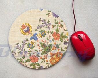 Flower Mousepad, Office Mousepad, Computer Mouse Pad, Fabric Mousepad