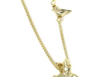Birdhouse Bijoux - Collier coeur or