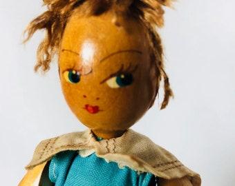 Vintage Polish Doll of Wood