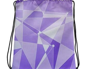 Purple Wall - Drawstring bag