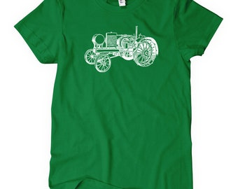 Women's Tractor V2 T-shirt - S M L XL 2x - Ladies' Tee, Farming Shirt, Farm Shirt, Farm Equipment, Farmer Gift, Farming Art