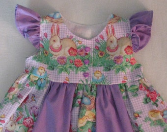 Easter dress, 9 month dress, Rabbit dress, Baby dress