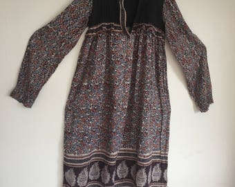 SOLD Vintage 70s Indian Gauze Dress
