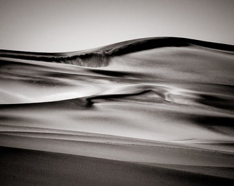 Desert Art - Sand Dunes Fine Art Photography - Desert Photograph Wall Art- Monochrome African Landscape - Home Decor