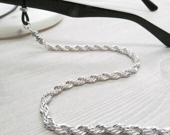 Silver Glasses Chain; Chain for Glasses; Glasses Leash; Glasses Lanyard; Reading Glasses Holder Necklace; Glasses Cord; KalxDesigns