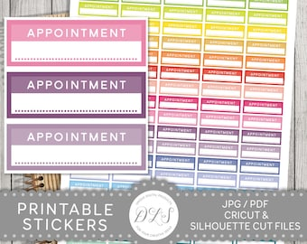 Appointment Stickers, Appointment Planner Stickers, Appointment Printable Stickers, Appointment Box Stickers, ECLP, Mambi PDF, FS107