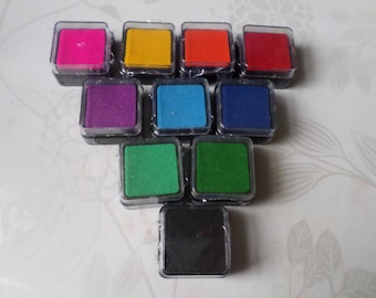 x 10 mixed square pad with 10 different colors 3 x 3 cm