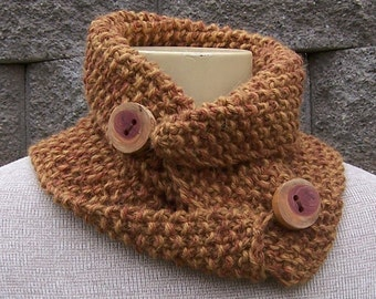 KNIT PATTERN - Urban Harvest Neck Cowl