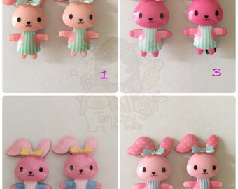 colorful rabbit/bunny hairclip for kids girls - cute and beautiful