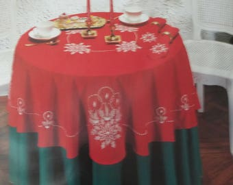 """Candlelight Candlewicking and Cross-Stitch Tablecloth Kit - 59"""" X 90"""" Oblong"""