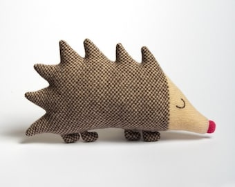 Mabel Hedgehog Knitted Lambswool Soft Toy Plush - Made to order