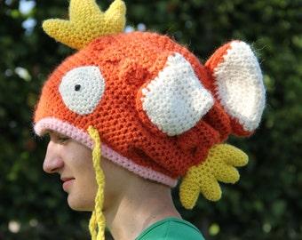Crocheted magikarp inspired Hat/Beanie