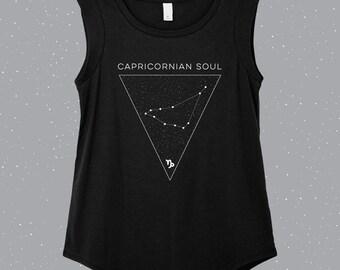 Capricornian Soul | Capricorn Sleeveless Shirt