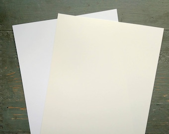 """100 Sheets White Card Stock, 8.5x11"""" Cardstock, 100% Recycled 8 1/2x11"""" (216x279mm) 80-100lb. cover stock, white or natural white/off-white"""