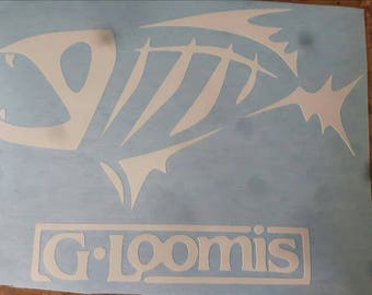 "Decal GLOOMIS 8 "", laptop decal, bumper decal, Window decal"