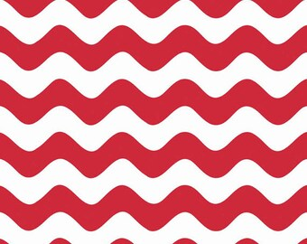 Half Yard Wave - Waves in Red - Cotton Quilt Fabric - RBD Designers for Riley Blake Designs - C415-80 (W3293)