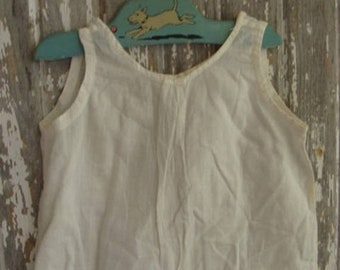 ONSALE Antique Handmade Cotton Pinafore Baby Doll Gown N0542