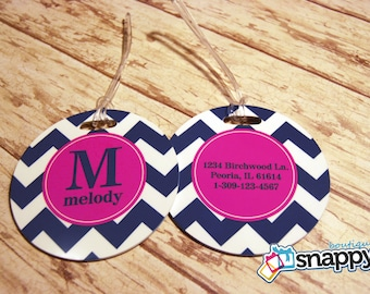 Personalized Luggage Tag - Monogrammed Luggage Tags