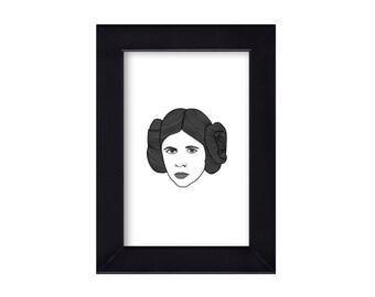 4 x 6 Princess Leia / Star Wars Portrait