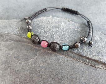Colorful Aromatherapy Bracelet, Diffuser Bracelet, Adjustable Bracelet, Essential Oil Diffuser, Green Blue Pink Bracelet, Easter Gift
