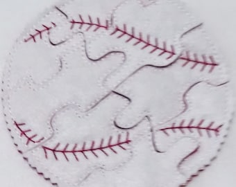 Baseball Felt Puzzle game - Perfect for party favors - school treats - busy bags or quiet books - learning activity -  #P777