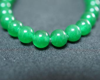33 beads 6mm JADE stones