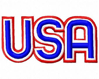 USA Embroidery Design - Instant Download