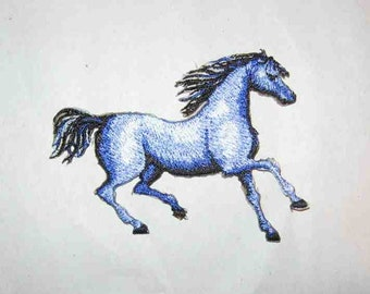 """Embroidered TROTTING HORSE Iron-on/Sew on Patch Badge Applique 3 3/4""""....choose color"""