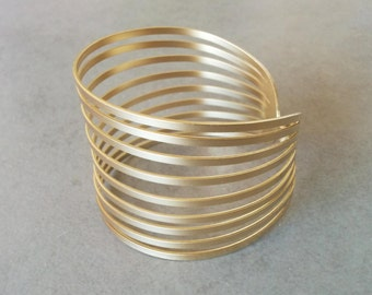 Bridal Bracelet, Gold Cuff Bracelet, Gold Bracelet, Bridal Cuff, Bangle Bracelet, Wedding Jewelry, Wide Cuff Bracelet, Gold Wedding Bracelet