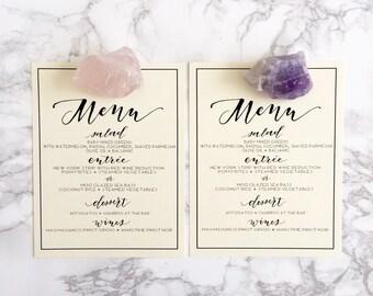 Menu stamp / Calligraphy Stamp / Diy menu / wedding menu / wedding stamp / modern calligraphy / wedding invitations / rubber stamp
