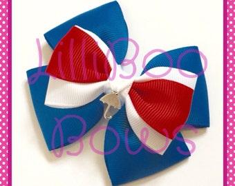 Handmade Mary Poppins Inspired Hair Bow / Bah Charm