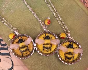 Honey Bee Necklace | bee charm necklace pendant