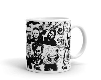 Horror Film Mug, Custom Mug, Scary film Mug, Unique Mug Cool Mug Coffee Mug, Film Mug,