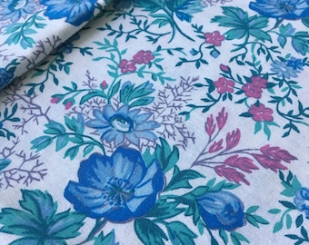 8/9 Yard Cotton Fabric - Cotton Fabric Remnant  - Cotton Quilt Fabric - Craft Fabric - Floral Cotton Fabric - Fabric Scraps