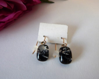 Black Fused Glass Earnings