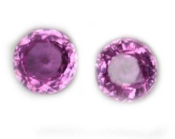 Pink Madagascar Round Sapphire Pair 1.71 Cts