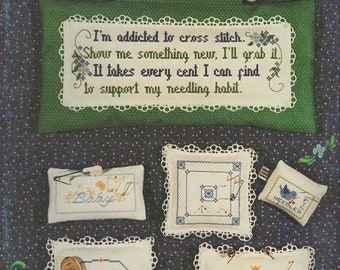 Addicted to Cross Stitch Book by Harriette Tew -- Leaflet 12