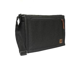 Ultimate Stash laptop messenger bag - black