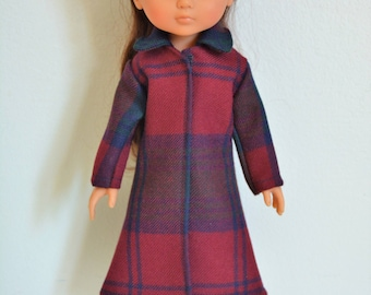 """Handmade Doll Clothes Coat fits 13"""" Corolle Les Cheries Dolls Christmas C"""