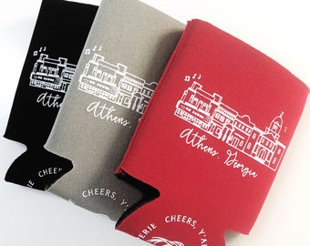 It's Saturday in Athens Insulated Can Holder